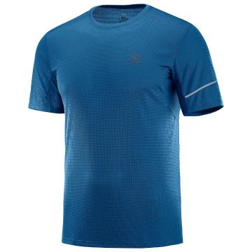 Salomon Men's Agile Short Sleeve Tee - Poseidon