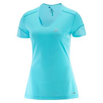 Salomon Women's Trail Runner SS Tee - Spectrum Blue