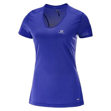Salomon Women's Trail Runner SS Tee - Blue Radiance