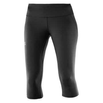 Salomon Women's Agile 3/4 Tights - Black