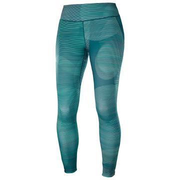 Salomon Women's Agile Long Tight - Waterfall/Reflec Pnd