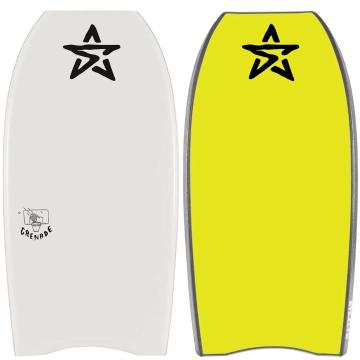 Stealth Grenade PE Bodyboard with Coil Leash 40""