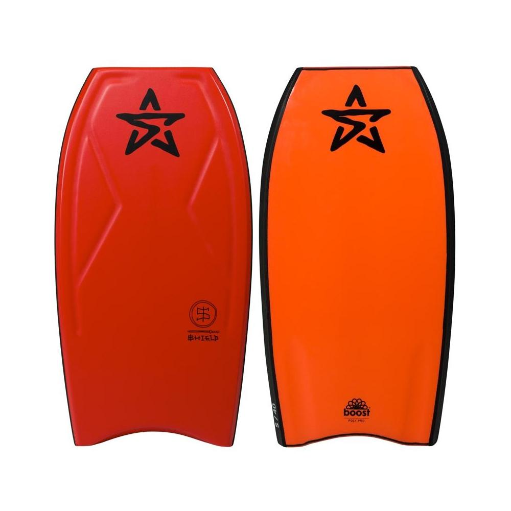 Shield PP Bodyboard with Coil Leash 44in