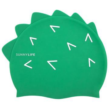 Sunnylife Kids Crocodile Swimming Cap - Green
