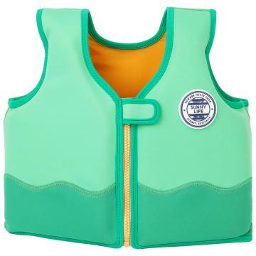 Sunnylife Kids Crocodile Swim Vest - Green