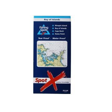 Spotx Publications Limited Bay of Islands Fishing Chart