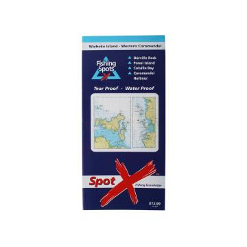 Spotx Publications Limited Waiheke - Western Coromandel Fishing Chart