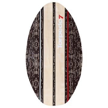 Torpedo7 Woody Classic 35 Skimboard - Plaid Brown