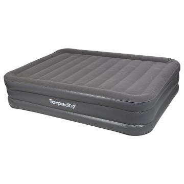 Torpedo7 Queen High Sided Airbed with 12V Pump - Dark Grey