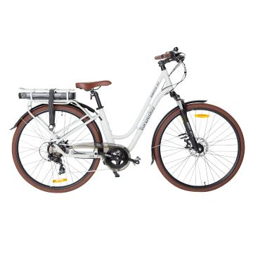 "Torpedo7 Viento ST E-Bike 16"" with Basket - Light Grey"