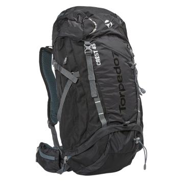 Torpedo7 Crest 45L Pack - Black/Charcoal