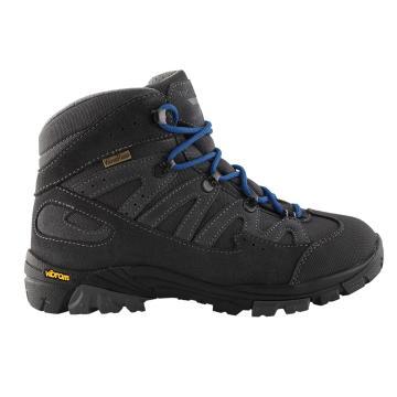 Torpedo7 Boy's Kepler Vibram Hiking Boots - Dark Grey/Airforce Blue
