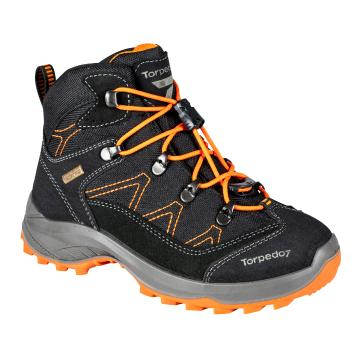 Torpedo7 Kepler II Junior Hiking Boot - Black/Orange