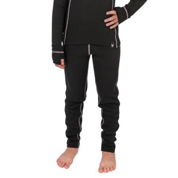 Torpedo7 Kid's Polypro Thermal Pants - Black/Pink/Charcoal