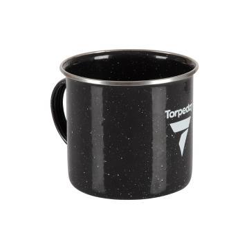 Torpedo7 Enamel Mug - 500ml - Black