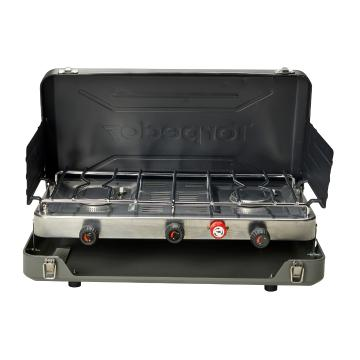 Torpedo7 Premium Twin Burner LPG Stove with Grill