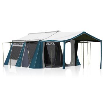 Torpedo7 Horizon 2 Room Canvas Tent - Ink/Grey