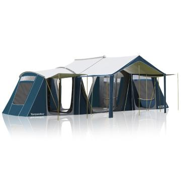 Torpedo7 Estate 3 Room Canvas Tent - Ink/Grey