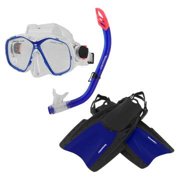 Torpedo7 Adults Snorkelling Set - Blue