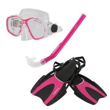 Torpedo7 Junior Snorkelling Set - Pink