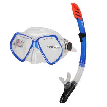 Torpedo7 Adult Mask and Snorkel Set - Blue
