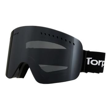 Torpedo7 Adult Crater Snow Goggles + Spare Lens - Black/Black