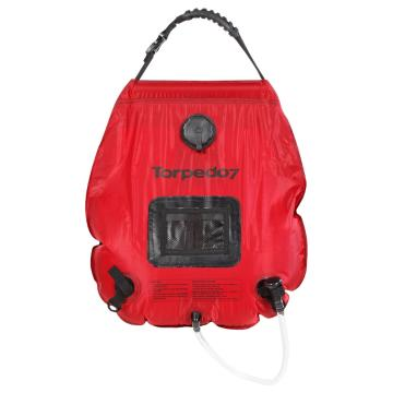 Torpedo7 Revive Deluxe 20 Litre Solar Shower - Red