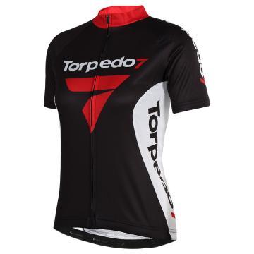 Torpedo7 Women's Team Road Short Sleeve Jersey - Black/White/Red
