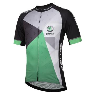 Torpedo7 Skoda Men's Team Jersey - Black/Green/Silver