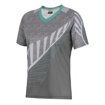 Torpedo7 Women's Fern MTB Short Sleeve Jersey - Light Grey/Mint