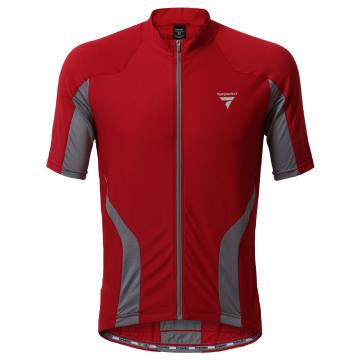Torpedo7 Men's Beacon Short Sleeve Cycle Jersey - Red/Grey