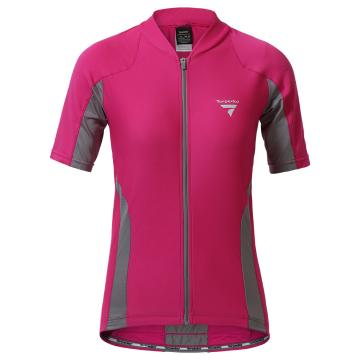Torpedo7 Women's Beacon Short Sleeve Cycle Jersey - Fuschia/Grey