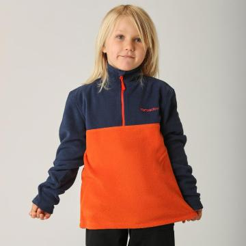 Torpedo7 Boys Baseline 1/4 Zip Fleece - Navy/Orange