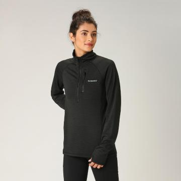 Torpedo7 Women's Pinnacle Grid Fleece - Black