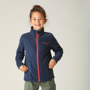 Torpedo7 Girls' Union Zip Through Fleece - Navy/Orange