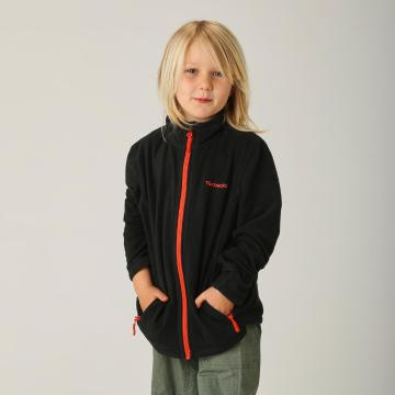 Torpedo7 Boys Union Zip Through Fleece - Black/Orange