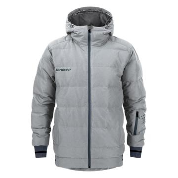 Torpedo7 Men's Cruise Puffer Down Snow Jacket - Grey