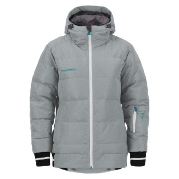 Torpedo7 Women's Cruise Puffer Down Snow Jacket - Grey