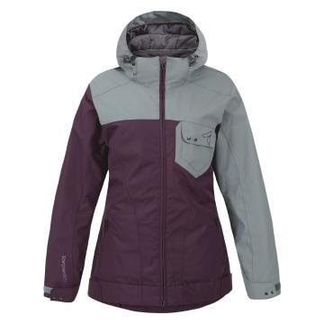 Torpedo7 Girl's Flux Snow Jacket - 10-16 Years - Grape/Grey