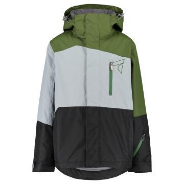 Torpedo7 2019 Youth Boy's Mission Jacket - Khaki/Grey/Black