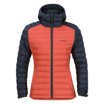 Torpedo7 Women's Resolve V3 Down Jacket - Coral/Dark Petrol