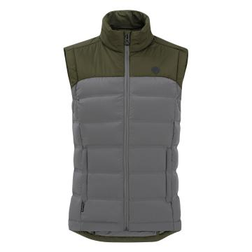 Torpedo7 Men's Onyx Down Vest - Grey/Olive