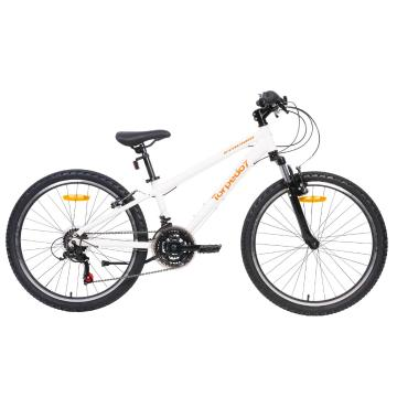 "Torpedo7 Synchro 24"" Bike - White/Orange"