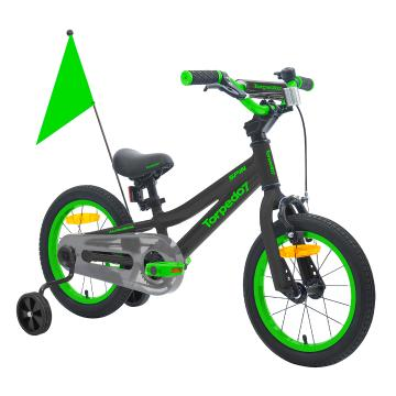 "Torpedo7 Unisex Spin 14"" Bike 35cm - Black/Green"