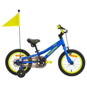 "Torpedo7 Unisex Spin 14"" Bike 35cm - Blue/Acid Green"