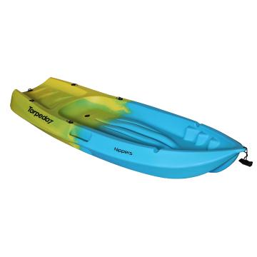 Torpedo7 Nippers 1.83m Kid's Kayak and Paddle - Yellow/Hawaiian Blue