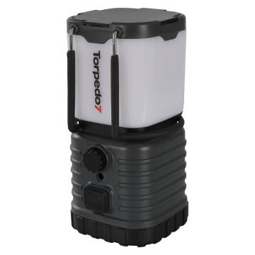 Torpedo7 Rechargeable USB LED Lantern - 200 Lumens - Light Charcoal/Black