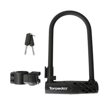 Torpedo7 U Shackle Lock with Bracket
