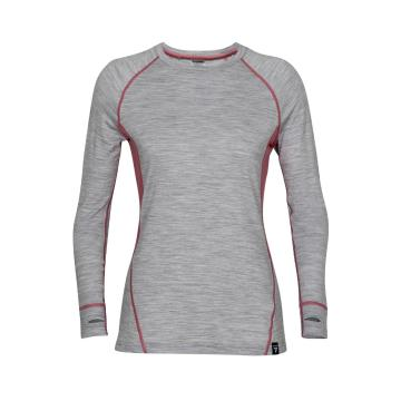 Torpedo7 Women's Summit Long Sleeve Tee V2 - Grey Marle