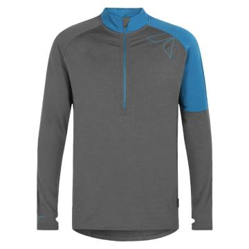 Torpedo7 Men's Merino Vale Long Sleeve Half Zip Tee